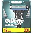 Recambio de maquinilla de afeitar Estuche 12 unidades Gillette Mach3