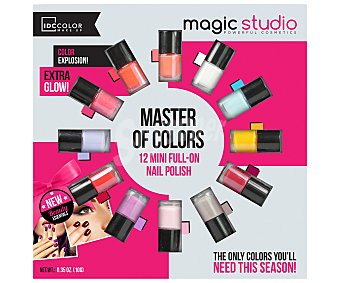IDC COLOR Lacas de uñas de colores, Magic Studio 12 unidades de 0,10 gramos