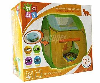 BABY Casa con 100 bolas de colores 1 Unidad