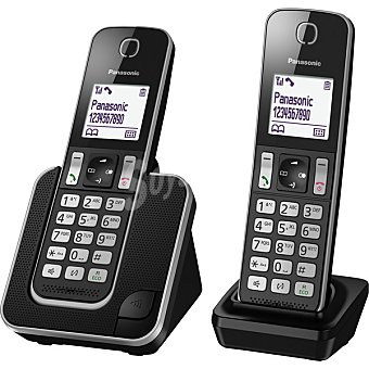 Panasonic Teléfono  Inalámbrico dúo en color negro KX-TGD312 1 Unidad