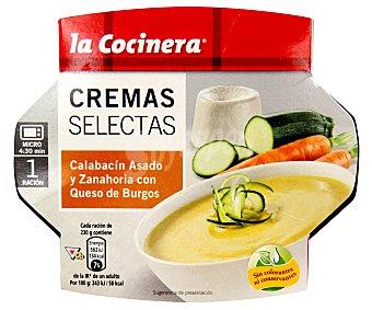 La Cocinera Crema de calabacín asado y zanahoria con queso de burgos 230g