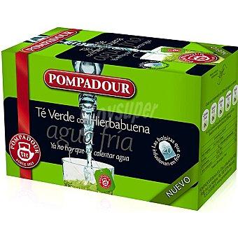 Pompadour té verde con hierbabuena para agua fría Estuche 20 bolsitas