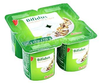 Auchan Yogur con bifidus con muesli y fibra 4 x 125 g