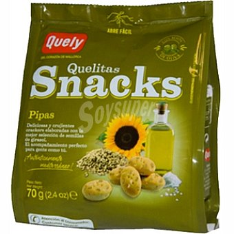 QUELY QUELITAS Snacks de pipas crackers Bolsa 70 g