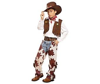 My other me Disfraz infantil Vaquero color blanco y marrón, 10-12 años 1 unidad