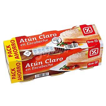 DIA Atún claro en escabeche Pack de 6 latas 52 gr