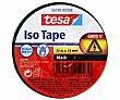 Rollo de 20 metros de cinta aislante adhesiva de 19 milímetros y color negro Iso tape. TESA ISO TAPE