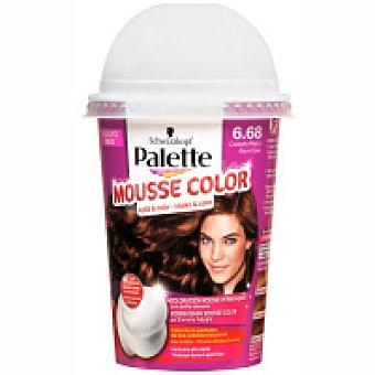 Palette Schwarzkopf Tinte castaño rojizo Nº6.68 Mousse Color Caja 1 unid