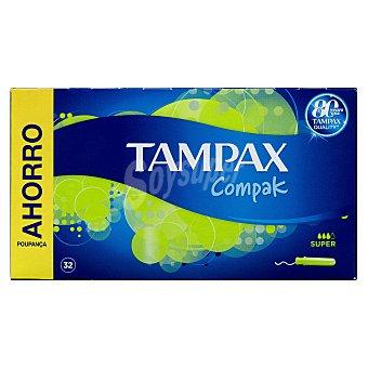 Tampax Tampon súper compacto Caja 32 u