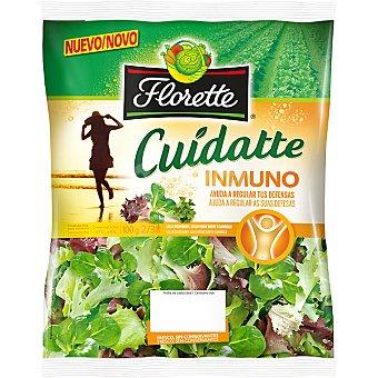FLORETTE CUIDATTE Ensalada inmuno con lollo rosso brote, lollo verde brote y canónigo bolsa 100 g Bolsa 100 g