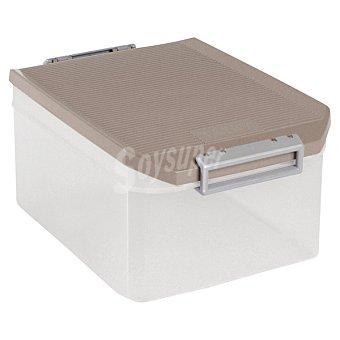 TATAY Caja Multiusos con tapa marrón 14 l 14 l