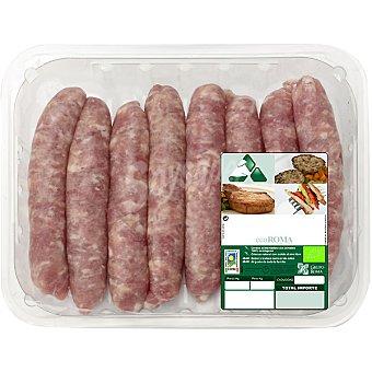 ECOROMA Salchichas frescas de cerdo ecológico Bandeja 400 g peso aproximado