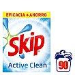Detergente máquina polvo Active Clean Caja 90 cacitos Skip