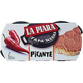 La Piara Pate tapa negra picante Pack de 2x73 g