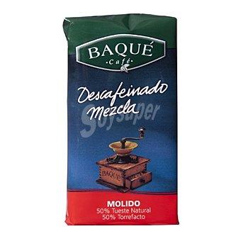 Baqué Café molido descafeinado mezcla Paquete 250 g