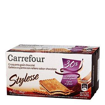 Carrefour Galleta crujiente con relleno con sabor a chocolate 96 g