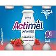 Yogur líquido con lcasei de fresa 0% Pack 6 uds x 100 ml Actimel Danone