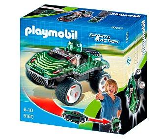 Playmobil Figura más coche Snake racer Click & Go de Sport & Action, modelo 5160 de 1 unidad