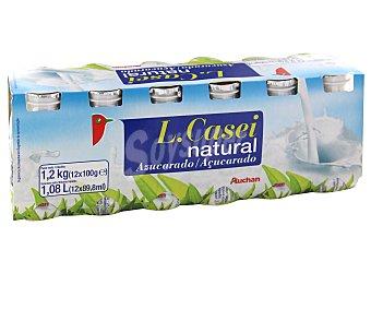 Auchan Yogur natural lactocasei 12 unidades de 100 gramos