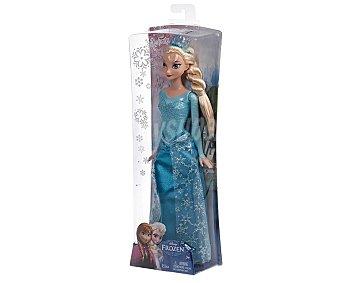 Disney Muñeca princesa Elsa de Frozen con vestido de purpurina 1 unidad