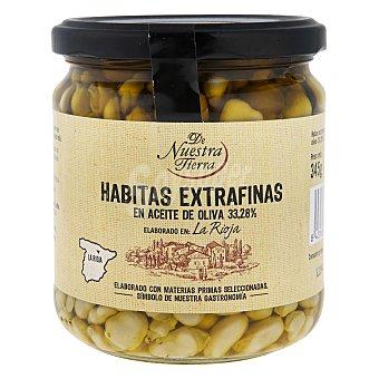 De Nuestra Tierra Habitas extrafinas en aceite de oliva 345 G 345 g