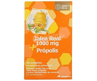 ARKOREAL Jalea Real con miel, própolis y zumo concentrado de naranja Caja 30 ampollas