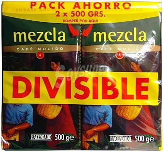 Hacendado Cafe molido mezcla Nº 4 (sabor Y cuerpo) Paquete pack 2 x 500 g - 1 kg