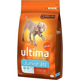 Ultima Affinity Alimento rico en pollo y arroz para perros Junior Bolsa 1,5 kg