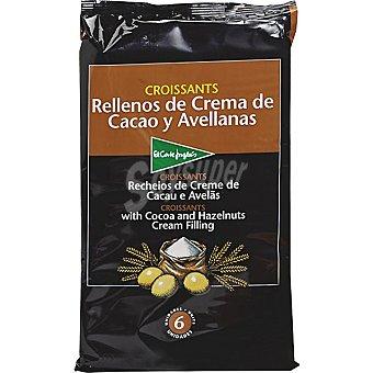 El Corte Inglés Croissants con cacao bandeja 240 g 6 unidades