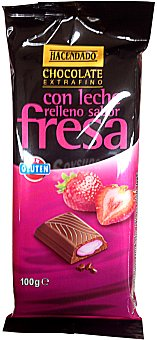 Hacendado Chocolate leche relleno fresa Tableta 100 g