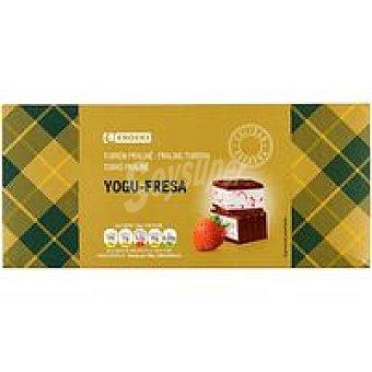 Eroski Turrón de praliné-yogur de fresa Caja 300 g