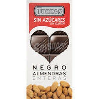 Torras Chocolate negro con almendras sin azúcar Tableta 150 g