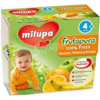 Milupa Frutapura de naranja-plátano Pack 4x100 g