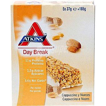 ATKINS DAY BREAK barritas de capuchino y nueces envase 185 g 5 unidades