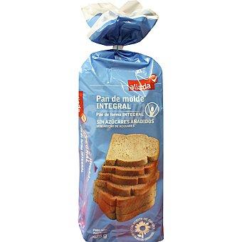 Aliada pan de molde integral sin azúcar Bolsa 475 g