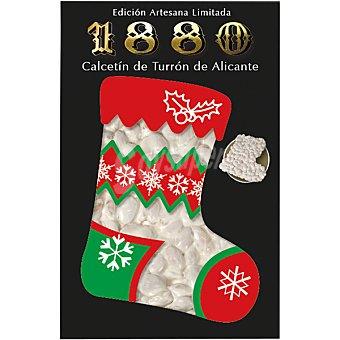 1880 Calcetín de turrón de Alicante estuche 200 g