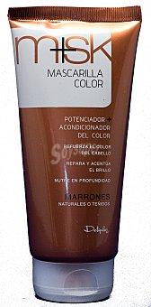 Deliplus Mascarilla cabello castaño Tubo 150 ml