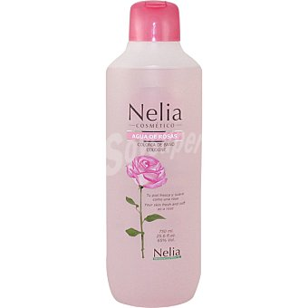 NELIA Cosmético Colonia de baño Agua de Rosas botella 750 ml 750 ml