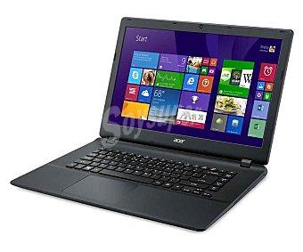 Acer Ordenador portátil con pantalla de 15,6'' acer aspire ES1 512, Procesador: Intel Celeron N2840 Dual Core 2,16GHz, Ram: 4GB, Disco duro: 500GB, Gráfica: Intel Portátil 15,6'' ES1-512