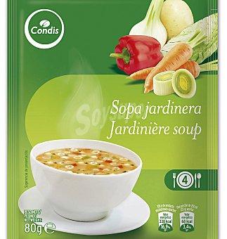 Condis Sopa jardinera con verduras y conchas 80 G