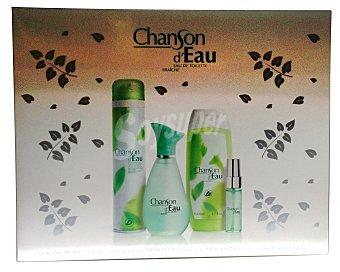 Chanson D'Eau Lote mujer eau toilette 100 ml vaporizador + gel de baño 200 ml + desodorante 200 ml + eau de toilette mini 15 ml vaporizador 1 lote