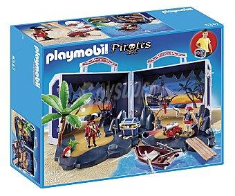 PLAYMOBIL Play set El cofre del tesoro pirata en maletín, incluye 2 figuras, modelo 5347 de 1 unidad