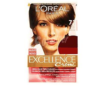 Excellence L'Oréal Paris Tinte de color rubio ceniza nº 7.1 Pack de 2 unidades
