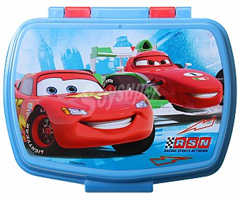 Disney Porta bocadillos rectangular con diseño Cars Racing Sport Network Porta Sandwich Cars