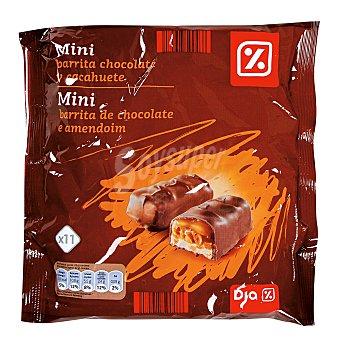 DIA Mini barrita chocolate cacahuete bolsa 250 gr Bolsa 250 gr