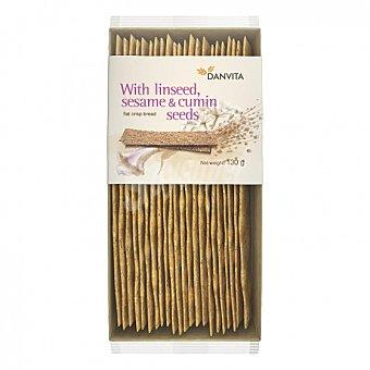 DANVITA Pan crujiente semillas de sésamo, lino y alcaravea 130 G 130 g