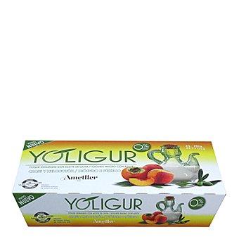 Yoligur Yogur denatado de melocotón con aceite de oliva Pack 2x125 g