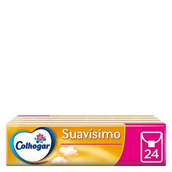 Colhogar Pañuelos blancos suavísimo compact 4 capas 24 ud