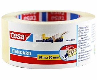 Tesa Cinta pintor standard para perfiles rectos 50mm x 50 Metros