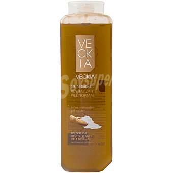 Veckia gel de baño revitalizante con sales minerales pH 5.5 para piel normal Bote 750 ml